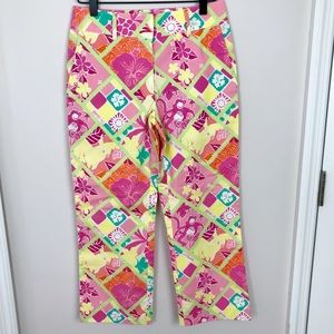 LILLY PULITZER Monkey Pattern Crop Pants